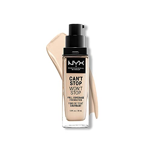 NYX PROFESSIONAL MAKEUP Can't Stop Won't Stop Foundation, 24h Full Coverage Matte Finish - Pale
