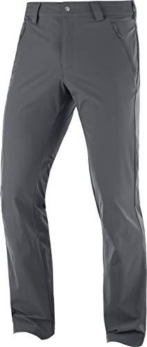 Salomon, Pantalon d'Extérieur pour Homme, WAYFARER STRAIGHT LT PANT, Polyamide/Elasthanne, Gris (Ebony), Taille : 2XL, LC1300700
