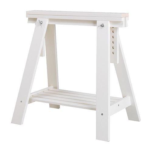 IKEA FINNVARD Bock mit Ablage, weiß, 70x 71/93cm