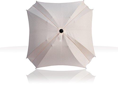 Sonnenschirm für Kinderwagen, mit flexiblem Befestigungsarm, Sonnenschirm mit UV-Schutz, Durchmesser 70 cm, (Cream)