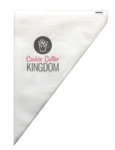 COOKIECUTTERKINGDOM Tipless Piping Bag. 100 Pieces 12 Inches in Professional Grade Thickness. Trusted by Bakers for Cookie, Cupcake, and Cake Decorating.