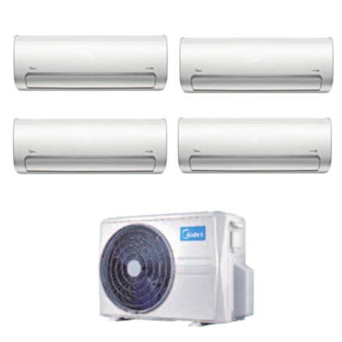 Climatizzatore MIDEA Quadrisplit mod. M4O-E28HFN8Q 36000BTU + MSMBAU-09HRFN8 9000BTU+MSMBAU-09HRFN8 9000BTU + MSMBAU-09HRFN8 9000BTU + MSMBBU-12HRFN8 12000BTU