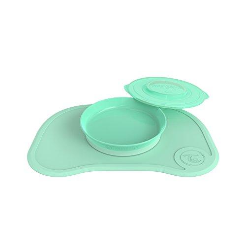 Twistshake Click Mat Plus Teller, Pastellgrün, ab 6 Monaten