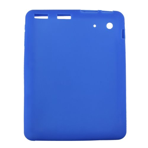 NSSTAR Soft Silicone Slim 8 Inch Android Tablet Protective Back Case Cover for ProntoTec 8' PT-T8-WHT,ProntoTec 8' PT-8IN-WHT,Simbans S81W 8', WoPad 8' Dual Camera, TURCOM 8' Tablet PC (Dark Blue)