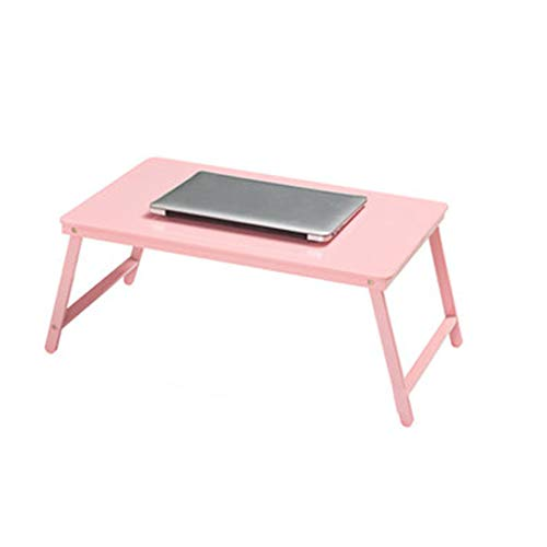 SHILONG Mesa Plegable Portátil De La Cama del Escritorio Compartida Lazy Simple Tabla del Escritorio del Estudio (Color : Pink)