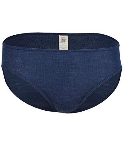 Engel Naturel, slip de bikini 70 % laine (kbT) 30 % soie. - Bleu - 44-46