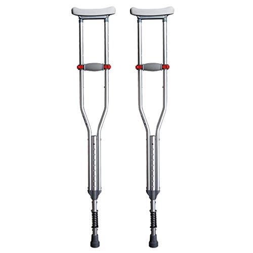 ZTBXQ Krücken für Erwachsene Gehhilfe Medizinische Instrumente Stick Crutch Achselkrücken Aluminiumlegierung Ältere Krücken Behinderte Höhe Verstellbarer Walk Spring Shock