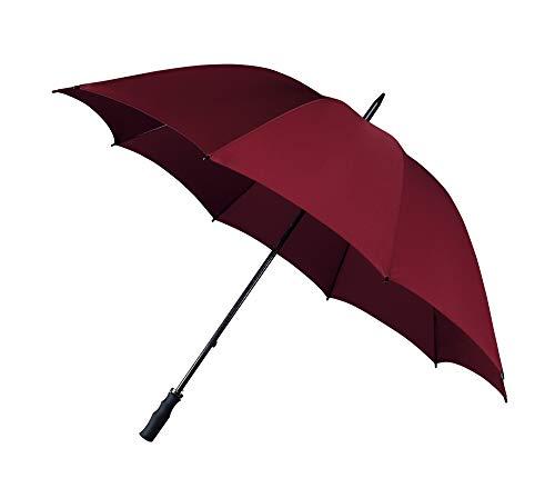 Impliva Falcone Regenschirm, 130 cm, Burgunderrot