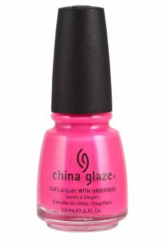 China Glaze Nail Lacquer with Hardner Iridescent Effect pink Voltage, 1er Pack (1 x 14 ml)