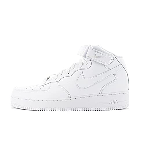 Nike AIR Force 1 Mid '07, Chaussure de Basketball Homme, Blanc, 43 EU