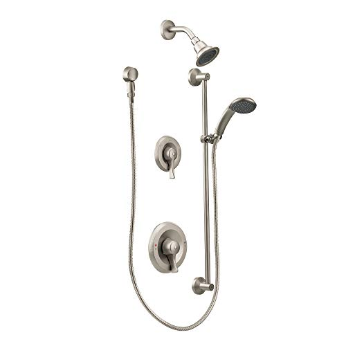 Moen T8342CBN Commercial M-DURA PosiTemp Showerhead & Handheld Showerhead without Valve, Classic Brushed Nickel