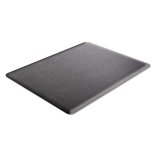 Deflect-O Ergonomic Sit-Stand Chair Mat for All Pile and Hard Floors, 36'W x 48'D, Black