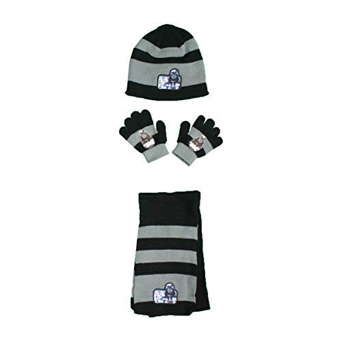 Star Wars - Conjunto de gorro + guantes + bufanda para niño Negro Talla única