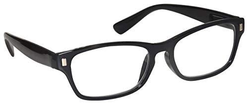 The Reading Glasses Company Fernbrille Kurzsichtigkeit Herren Damen Federscharniere M10-1 -1, 00 / Schwarz