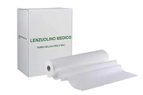 6 ROTOLI carta LETTINO massaggio lenzuolino Medico lunghezza 68 metri a rotolo