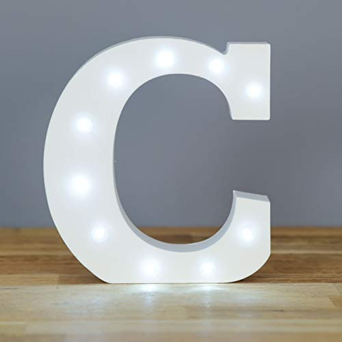 Smiling Faces, Up in Lights, Night Light, Decorative Light, Nurser (Letter C)