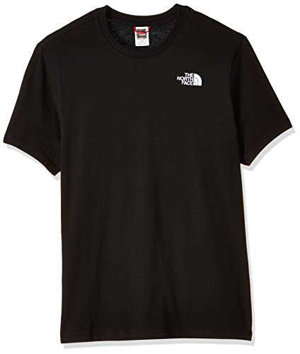 The North Face S/S Red Box tee Camiseta de Manga Corta, Hombre, Negro (TNF Black), M