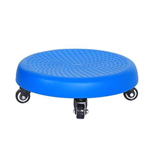 QFbp Bandeja Taburete Baja Redonda De Plástico Antideslizante con Ruedas Pequeñas Rotación De 360 ° Los 33 * 12cm