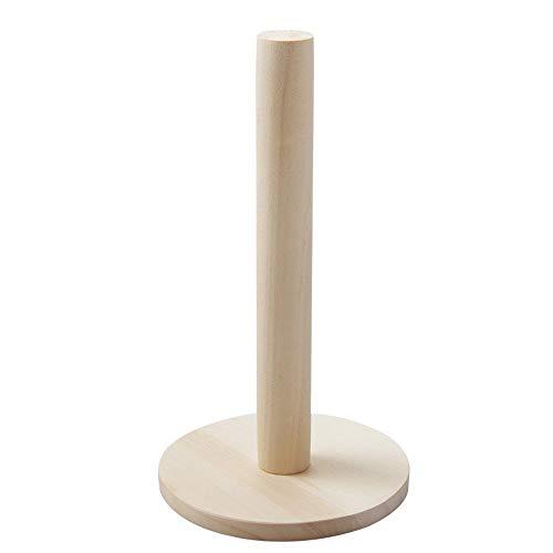 Portarrollos de usos múltiples Sostenedor de Madera de Papel de Cocina del hogar Almacenamiento del Rollo de Papel higiénico en Rack Vertical del Papel del Estante del sostenedor del Rollo de Papel