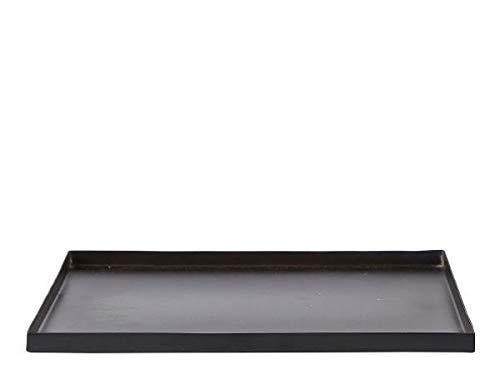 Villa Collection Vassoio per candele quadrato, nero, 25 x 25 cm