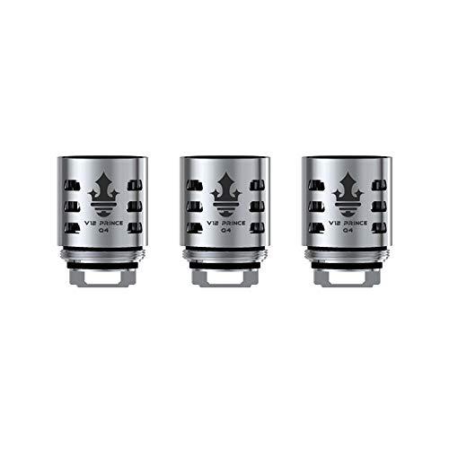 SMOK V12 Prince,V12 Prince M4 0.17ohm,V12 Prince Q4 0.4ohm,V12 Prince X6 0.15ohm, 3PCS/Pack-Sans Nicotine ni Tabac (V12 Prince Q4 0.4ohm)