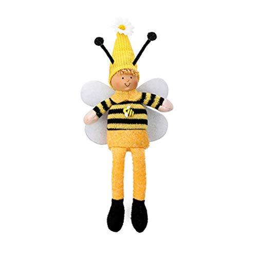 BASOYO Christmas Swedish Bee Doll, Long Leg Plush Scandinavian Bee Doll, Christmas Santa Figurines Christmas Ornaments Toys Doll Home Party Decoration