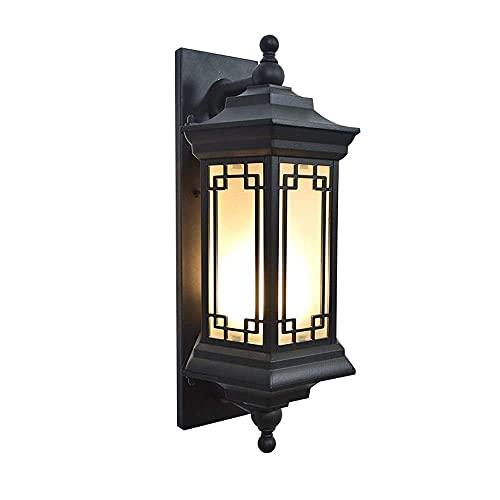 Sunmong Lámpara de Pared LED Nueva China, Entrada al Aire Libre, Pasillo, balcón, luz de Pared, focos de Villa Antigua, Retro, Vintage, de una Sola Cabeza (tamaño: Paquete)