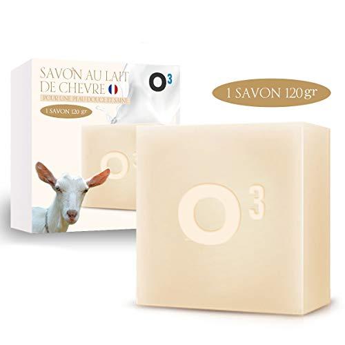 Savon Lait de Chevre-Savon Exfolliant fait main-Combat l'acné, soulage l'eczéma-120gr de savon artisanal