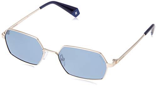 Polaroid Eyewear Pld 6068/S Occhiali da sole, Gold Blue, 56 Unisex Adulto