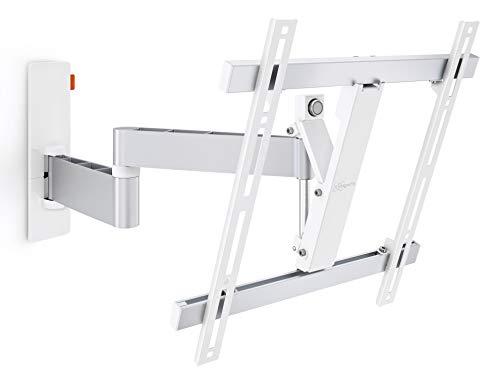 Vogel's Wall 3245W Blanco, Soporte de Pared para TV 32 - 55 Pulgadas, Inclinable y Giratorio 180º, Máx 20 kg y con Sistema Vesa Máx. 400X400