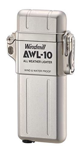 Windmill Unisex– Erwachsene AWL-10 Gasfeuerzeug, Silver, one Size