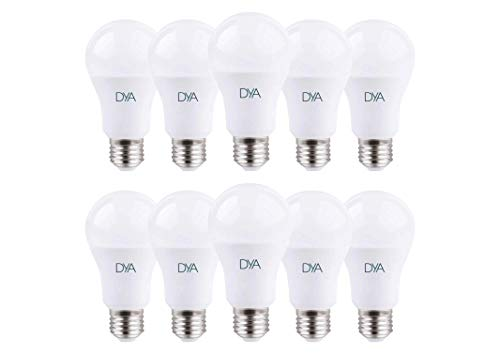 SET di 10 LAMPADINE LED DYA GOCCIA A60, Attacco E27 (LUCE FREDDA 6000K, 12W)