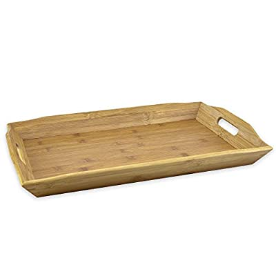 Large Bamboo Serving Tray with Handles