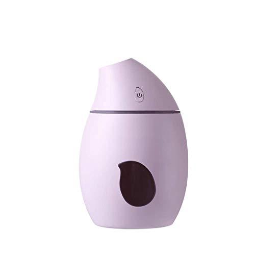 STRAW Humectador de Aire for automóvil de vehículo de automóvil de Ventilador de iluminación de humidificador de Niebla fría ultrasónica Mini purificadores de vaporizador de Escritorio (Color : B)