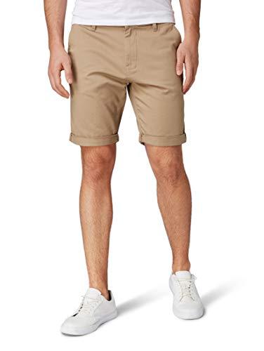 TOM TAILOR Herren Chino Hose Shorts, Braun (Chinchilla 11018), X-Large