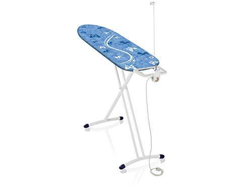 Leifheit Tabla de planchar plegable Air Board L Solid Plus para planchas de vapor, mesa de planchar ultraligera, tabla de planchado en menos tiempo