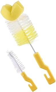 طقم فراشي لتنظيف الببرونات والحلمات من ليتل فيش، قطعتين - اصفر وابيض