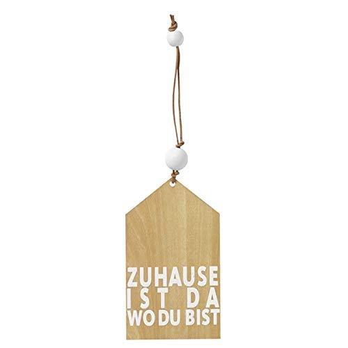 Räder Holzanhänger Zuhause ist da wo du bist