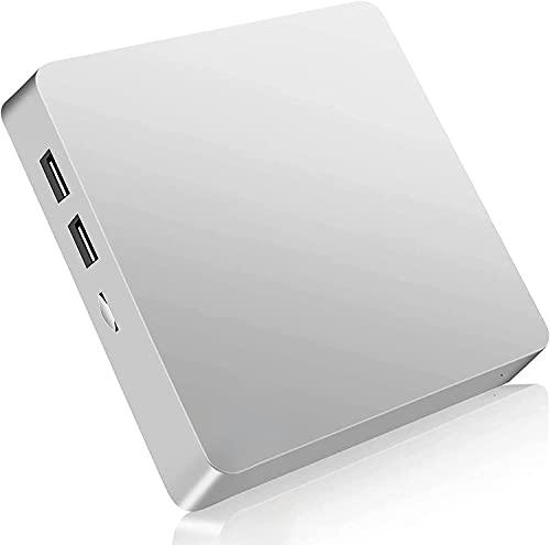 Mini PC, Windows 10 Pro Mini computadora sin Ventilador Atom Z8350 4GB DDR3 64GB eMMC Computadora de Escritorio Soporte 4K HD, Salida HDMI + VGA, 2.4G / 5G WiFi, Bluetooth, Gigabit Ethernet