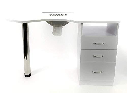 Tavolo per manicure per unghie con ASPIRATORE elettrico 3 cassetti nail set...