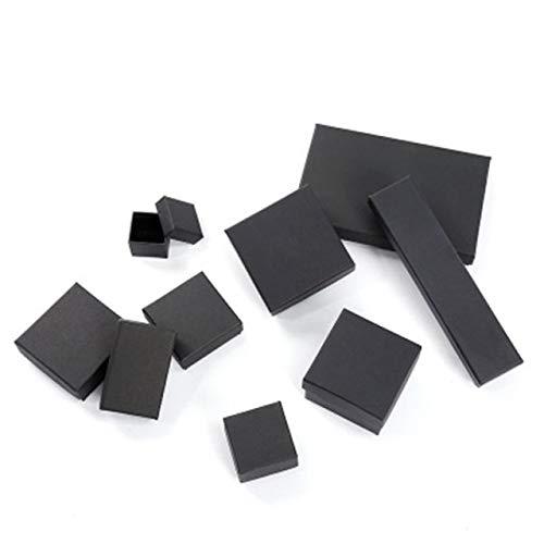 Caja negra personalizada del collar de la pulsera de la joyería que empaqueta la pequeña caja de regalo-5.5-8.7-2.8
