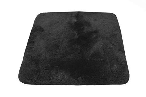 Reissner Lammfelle Sitzkissen Lammfell Vollfell Siki KISSEN-VF-40-SCH (Rollstuhlauflage Katzenbett) VF 40x40cm schwarz