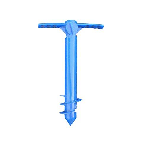 LIOOBO Soporte para Soporte de Ancla de Arena de sombrilla de Playa Portador de Arena Universal Agarre Spike Auger Holder (Azul)