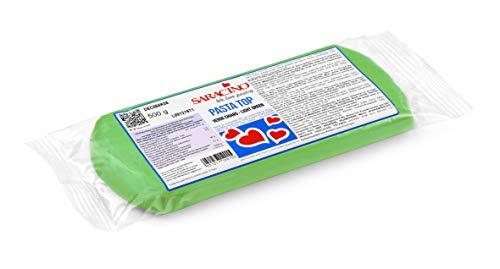 Saracino Pasta Di Zucchero Verde Chiaro Per Copertura Da 500 g Made In Italy