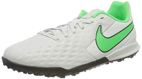 Nike Jr. Tiempo Legend 8 Academy TF Football Shoe, Platinum Tint/Rage Green-Black, 33.5 EU