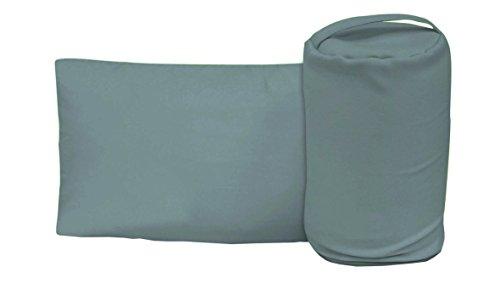 Sun Garden Homeoutfit24 Reise-Kopfkissen Wiebke 30x50 cm, 2in1 Set: Reisekissen mit Aufbewahrungs-Tasche, Komfortables Form-Schaum Nacken-Stützkissen in Grau