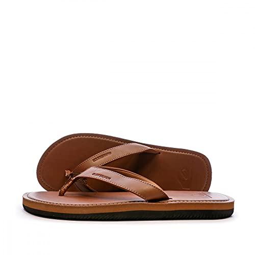 Quiksilver Molokai Nubuck II, Zapatos de Playa y Piscina Hombre, Marrón (Tan/Solid Tkd0), 42 EU