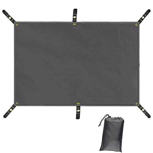 Farfly テントシート 防水加工 耐水圧3000mm グランドシート 厚いオックスフォード生地 アウトドア キャンプ 登山 6個ハトメ&収納袋付き S(220*150CM)