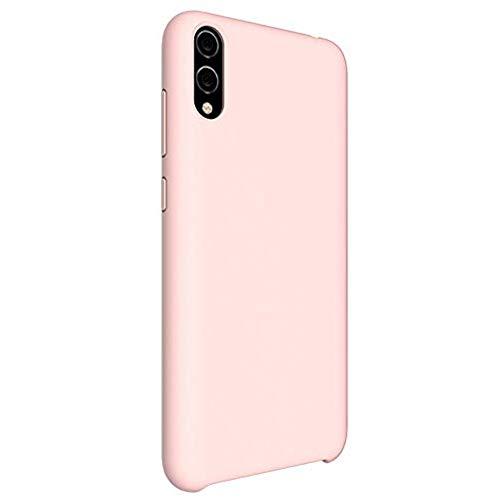 Oihxse Mate Líquido de Silicona Gel Funda - Compatible con OnePlus 1+5 Ultra Fina Suave Protección Carcasa Microfibra Suave Cojín Anti-rasguños Teléfono Caso Bumper (Rosa)