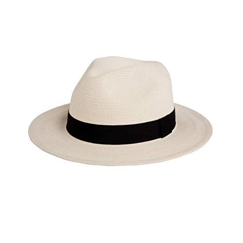 Pineapple&Star Sun Straw Fedora Beach Hat Fine Braid UPF50+ for Both Women Men